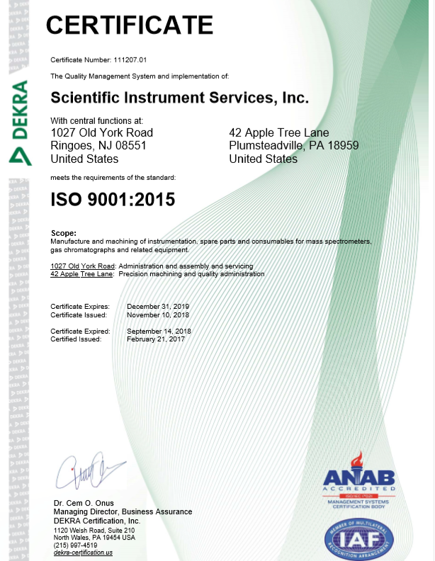 Iso Quality And Certification At Scientific Instrument Manufacturing